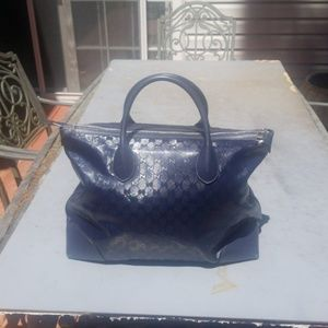 Gucci Crystal Navy Weekender Great Condition